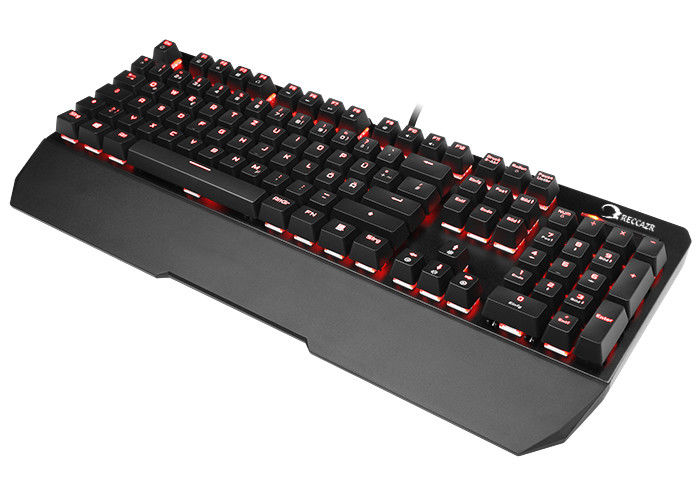 Black Color Mechanical Gaming Keyboard Rainbow Led Customized Lighting Mode